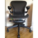 Black Classic AERON Chair with Lumbar Support