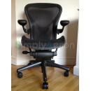 Black Classic AERON Chair with POSTUREFIT (Mk2)