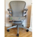 White Gold Tuxedo Classic AERON Chair with Lumbar Support (Mk2)