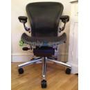 Black Classic Executive AERON Chair with Lumbar Support (Mk2)