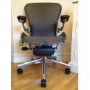 Grey Tuxedo Executive Classic AERON Chair with Lumbar Support (Mk2)